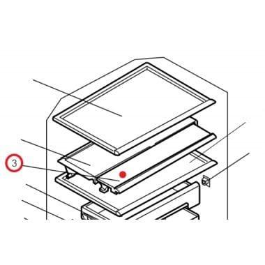 Mitsibushi fridge shelf KIEHJ3428 SLIDE SHELF (FRONT)