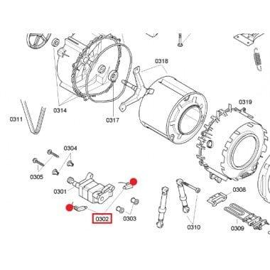 00154740 Bosch Washing Machine Brushes Generic WAP24261AU, WAS24460AU, WAS28440AU, WAS28461AU, WAE18061AU, WFR2830AU, WFO2430AU, WFO2050